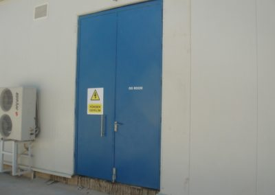 urfa enerji santrali özel çift kanat sac kapı